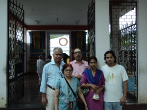 Picture taken in 2013 at CHANDRAN Temple : My wife , son , sister & Brother - in - Law