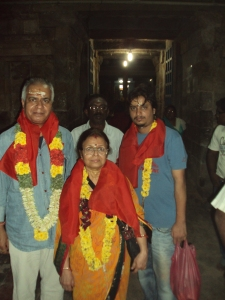 Picture taken in 2012 at SURYAN [ SURYA ]  Temple : My wife & son