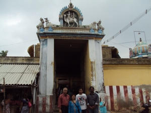 Picture taken in 2012 at KEDHU [ KETU ]  Temple : My wife & son