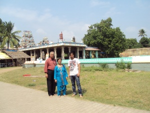 Picture taken in 2012 at BUDHAN [ BUDH ] Temple : My wife & son