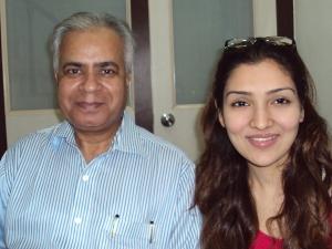 With Narmmadaa [ Tina Ahuja ] In My Office