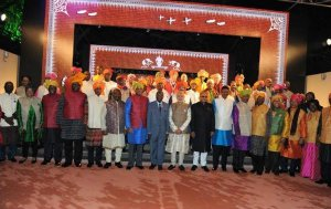 Heads of State / Government in Modi Jacket Attending Dinner Hosted by Modi