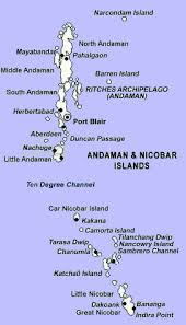 Map of Andaman & Nicobar Islands