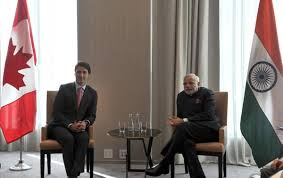 Modi with Justin Trudeau