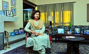 NAYANTARA SAHGAL in her swanky mansion in Dehradun