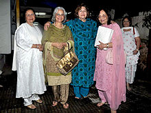 From Left to Right : Nanda, Waheeda Rehman, Helen & Sadhana