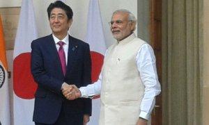 Prime Minister Narendra Modi with Prime Minister Shinzo Abe