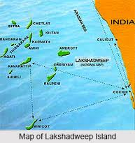 Location of Lakshadweep in the Map of India