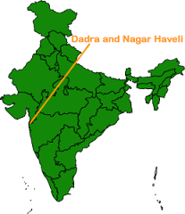 Location of Dadra & Nagar Haveli in the Map of India
