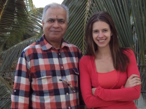 With Kalki Koechlin on the terrace of her apartment