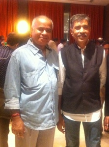 With Prakash Jha at the launch party of Jai Gangaajal