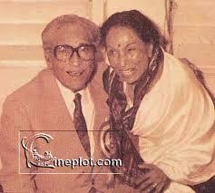 Lalita Pawar with Ashok Kumar