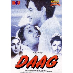 With Dilip Kumar in DAAG