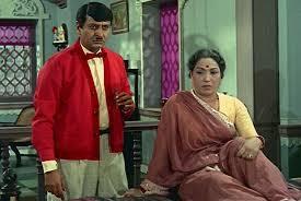 Lalita Pawar with Pran